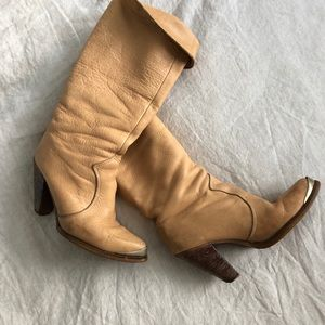 Vintage leather zodiac boots 6.5